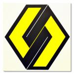 Yellow-Black 1981 / Sárga-Fekete 1981, oil on canvas, 100x100 cm
