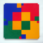 Poly-Uni (4 squares) 1979-2009, oil on wood, 60x60 cm