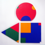 Poly-Uni (triangle+square+circle) 1979-2009, oil on wood, 60x60 cm