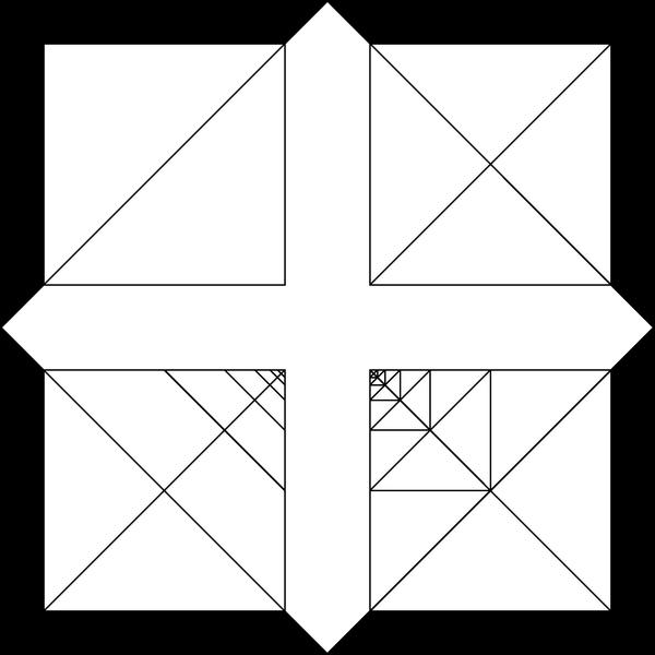 1. ábra. Saxon: Univerzum (1979); tus, papír, 50x50 cm