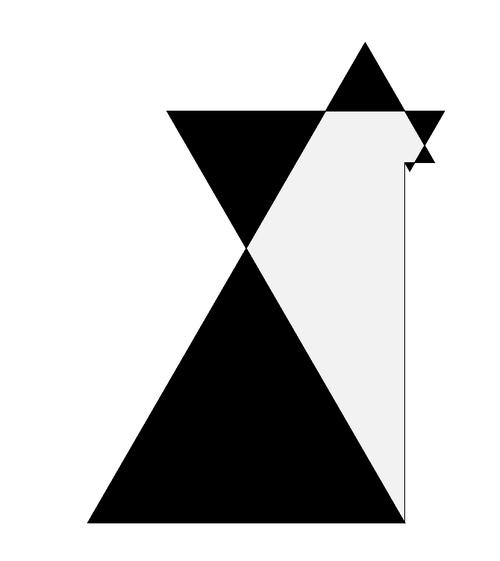 11. ábra. Saxon: Poly-D csillag (2008); akril, vászon, 150x200 cm