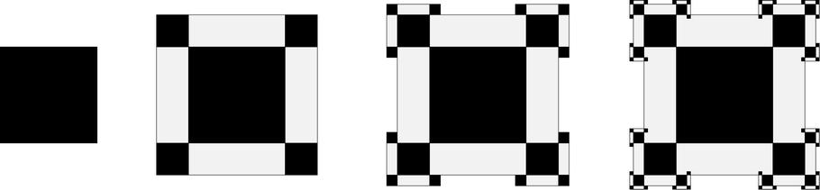 3. ábra. Saxon: Polidimenzionális mező (1998); olaj, fa, 152x152 cm
