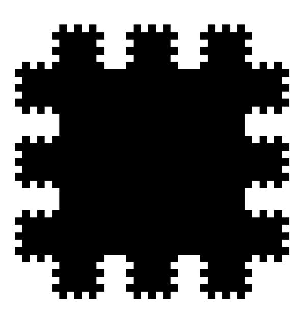8. ábra. Saxon: Polidimenzionális fekete négyzet (2000); olaj, fa, 55x55 cm