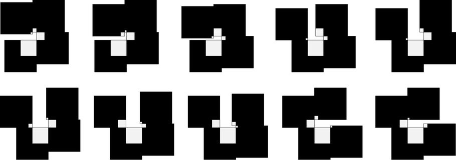 "Figure 9: Saxon, ""supreMADIsm"" icons (horizontal variations) 2006, acryl on wood, approx. 50x60 cm"