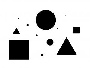 2. ábra. A különböző léptékű, elszórt formák perspektivikus érzékelése