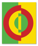 Oscillo-circle 1989 / Rezgőkör 1989, oil on canvas, 90x100 cm