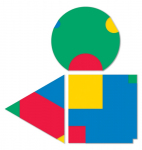 Modules of Poly-Universe 1979-2009 (triangle/háromszög, square/négyzet, circle/kör), oil on wood, 165x165 cm