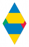 Modules of Poly-Universe 1979-2009 (triangles/háromszögek), oil on wood, 80x130 cm, variation