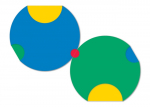 Modules of Poly-Universe 1979-2009 (circles/körök), oil on wood, 150x150 cm, variation