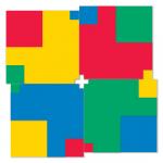 Modules of Poly-Universe 1979-2009 (squares/négyzetek), oil on wood, 170x170 cm, variation
