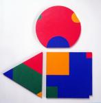 Poly-Uni (triangle+square+circle) 1979-2009, oil on wood, 60x60 cm