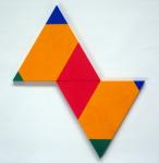 Poly-Uni (triangle+triangle) 1979-2009, oil on wood, 50x50 cm