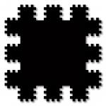 Poly-dimensional Black Square 2000 / Polidimenzionális fekete négyzet 2000, oil on wood, 55x55 cm