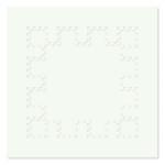 Poly-dimensional White Square 2000 / Polidimenzionális fehér négyzet 2000, oil on wood, 75x75 cm