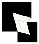 Triangular Wedge 2000 / Háromszög-ék 2000, oil on wood, 45x52 cm