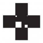Malevich Cross with Poly-Dimensional Spaces 2010 / Malevics Kereszt polidimenzionális űrökkel 2010, oil on canvas, 111x111 cm