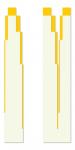Dimension Condensation I, II 1996 / Dimenziósűrítés I., II. 1996, oil on wood, 28x200 cm, 41x200 cm