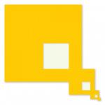 Yellow Direction 2000 / Sárga folyam 2000, oil on wood, 76x76cm