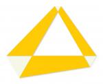 Poly-dimensional Triangle with Spaces I 2008 / Polidimenzionális háromszög űrökkel I. 2008, oil on wood, 150x130 cm