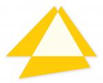 Poly-dimensional Triangle with Spaces II 2008 / Polidimenzionális háromszög űrökkel II. 2008, oil on wood, 150x130 cm